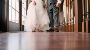 Say I Do to No Heels — How to Wear Other Shoes With Your Wedding Dress
